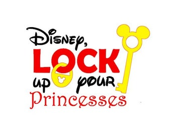 Disney Lock Up Your Princesses cut file for Silhouette machine cutting