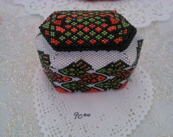 Beaded ring boxes