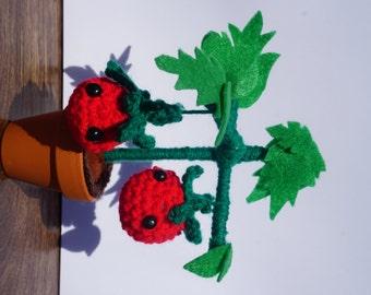 Crochet tomato plant