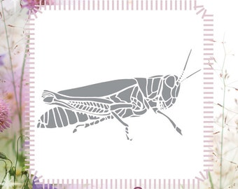 Grasshopper Insect DIY Reusable Stencil (Great for Craft and Scrapbooking)