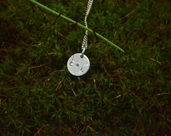 ALUMINUM Custom Metal Stamped Necklace //
