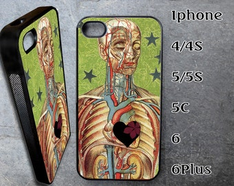 Human Anatomy Case for iPhone Choose Your Case Size