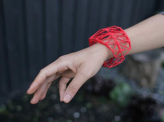 3dprinted Wireframe Bracelet