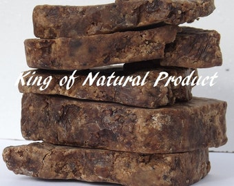 Raw African Black Soap 1lb from Ghana ..... by King of Natural Product