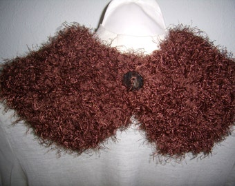 round neck, collar, scarf, infinity, closed by a button, knitting, cowl, scarf, infinity, handmade