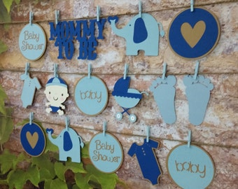 It's A Boy Garland, It's A Boy Die Cut Garland, It's A Boy Shower Decor, Boy Shower Decoration, Baby Boy Garland, Die-Cut Shower Decorations