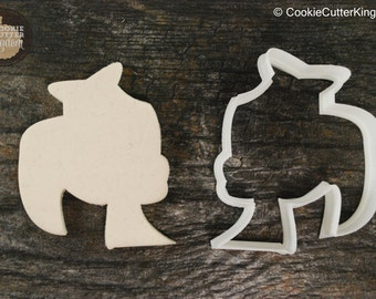 Princess with Crown Cookie Cutter, Mini and Standard Sizes, 3D Printed