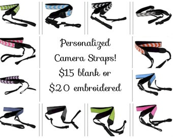 Personalized Camera Straps! Great Gift! Monogram Included!