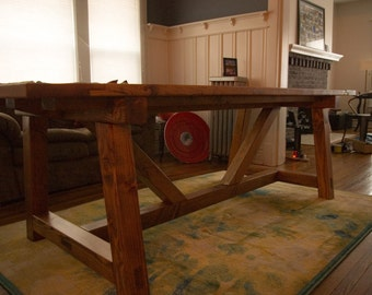 Rustic Truss Dining Table