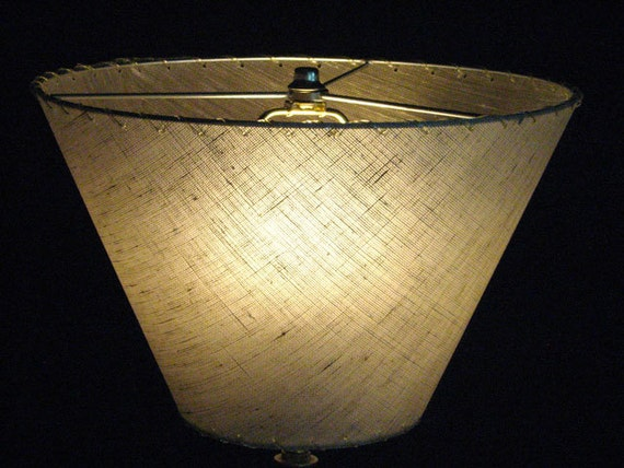 Items similar to Upside-down lampshade, newly made from vintage ...