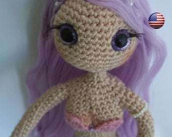 Sparkle amigurumi mermaid doll (English)