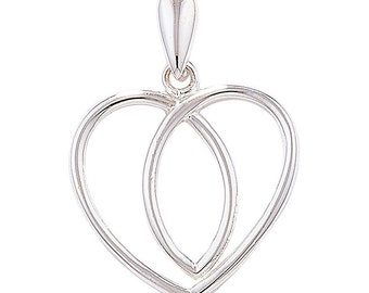 Silver Celtic Heart Necklace