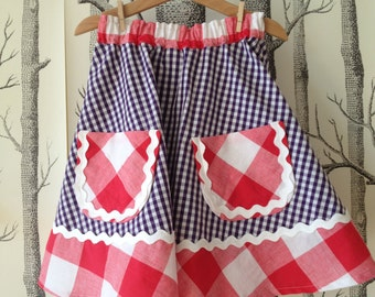 Nice next rock/skirt in plaid fabric for summer