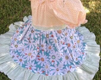 Handmade Girls Daisy Peasant Dress