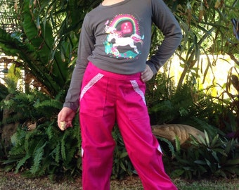 Girls Multipocket Cargo Styled Pants with Lace Trim.