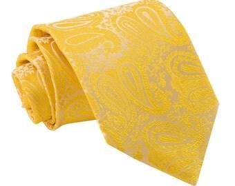 Paisley Gold Tie