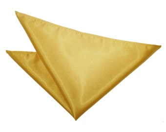 Satin Gold Handkerchief / Pocket Square