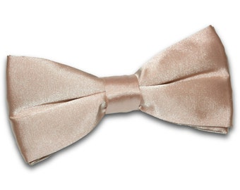 Satin Mocha Brown Bow Tie