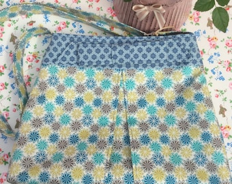 Floral Bow Shoulder Bag - designer 100% cotton fabric