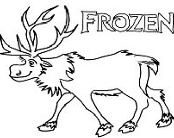 coloring pages of frozen sven dog | Popular items for frozen coloring on Etsy