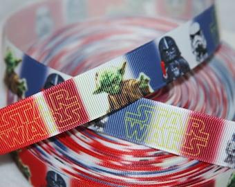 "Star Wars inspired red 7/8"" grosgrain ribbon   R75"