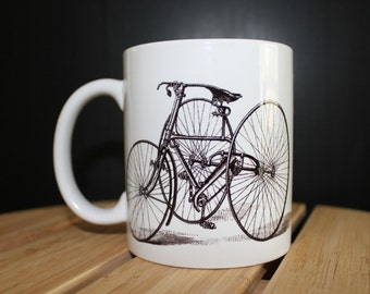 Cool Vintage 3 Wheeled Bike Printed Mug.