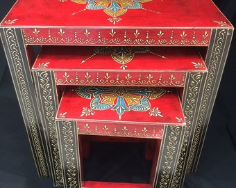 Set of 3 Elegant End Tables