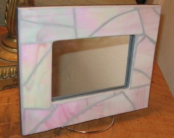 Pale Pink Opalescent Mirror