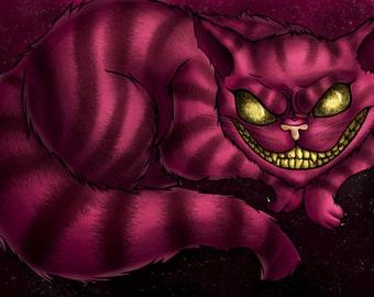 Creepy Cheshire Cat Print