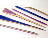 Hair pins hand-made from a recycled skateboard, available in different lengths, styles and colors