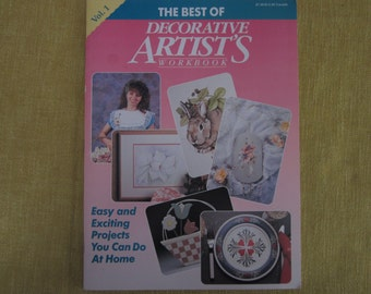 The Best of Decorative Artist's Workbook,Vol.1, painting projects,patterns,flowers,rabbits,tole painting,folk art