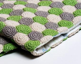 Crochet Pattern Reversible Blanket - Digital file PDF