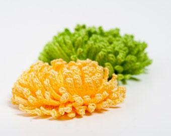 Crochet Pattern Chrysanthemum Flower  - Digital file PDF