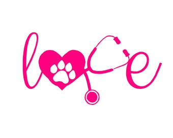 Veterinarian Car Decal - Puppy Love Car Decal
