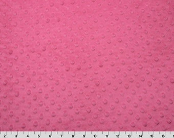Dimple Dot Minky Cuddle in Fuschia from Shannon Fabric