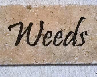 Weeds Garden Stone