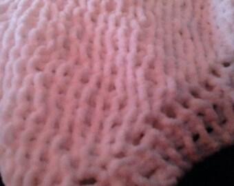 Diagonal Knit Fluffy Baby Blanket