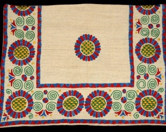 Hungarian Folk Buzsak Embroidered Pillow Case from the 90s