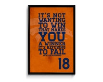 Peyton Manning Denver Broncos Inspirational Winner Quote Poster Print |Downloadable Digital JPG File|NFL | Perfect Gift for Football Fan
