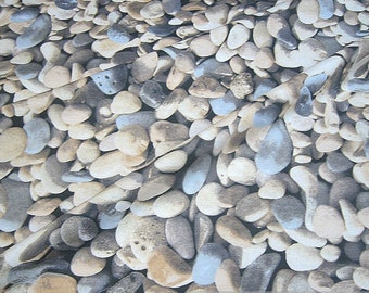 Fabric cotton polyester pebble stone photo print