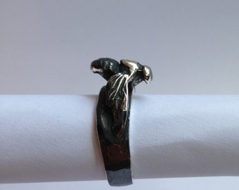 Apis Mellifera Bee ring in solid 925 sterling silver