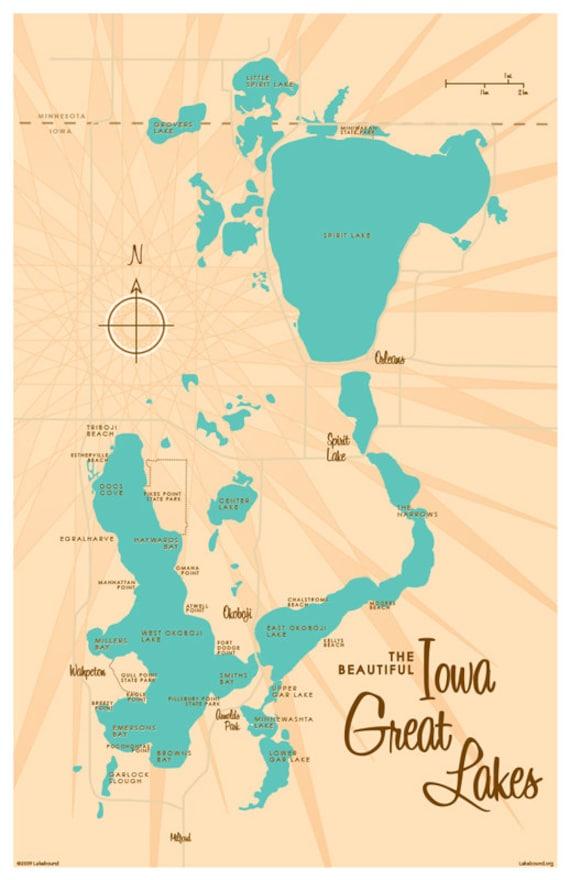 Iowa Great Lakes Map