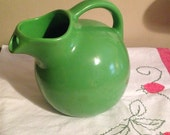 20% OFF Use Coupon XMAS20 Vintage Oxford Ware Pottery, Green Ball Jug!  Gorgeous Condition!