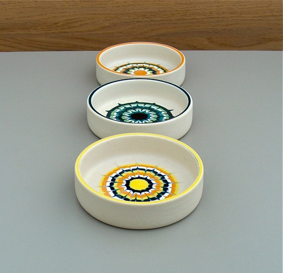 Hornsea Muramic Three Vintage Pin Dishes Small Bowls With A