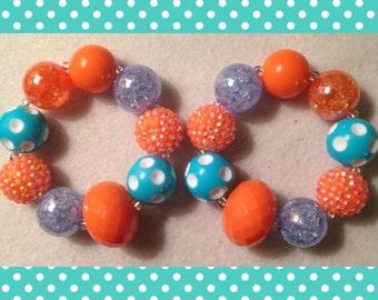 Orange & Aqua Bracelet