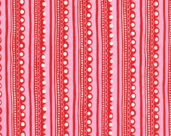 Cherry On Top Red and Pink Stripes with White Dots for MODA - 32706-16