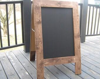Rustic two sided chalkboard sign chalkboard easel sandwich chalkboard sidewalk sign A frame outside chalkboard