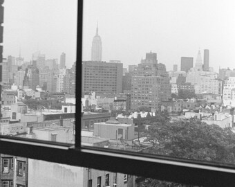 Black and White Film: NYC through the window