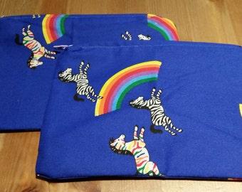 Rainbow Zebra Pencil Bag