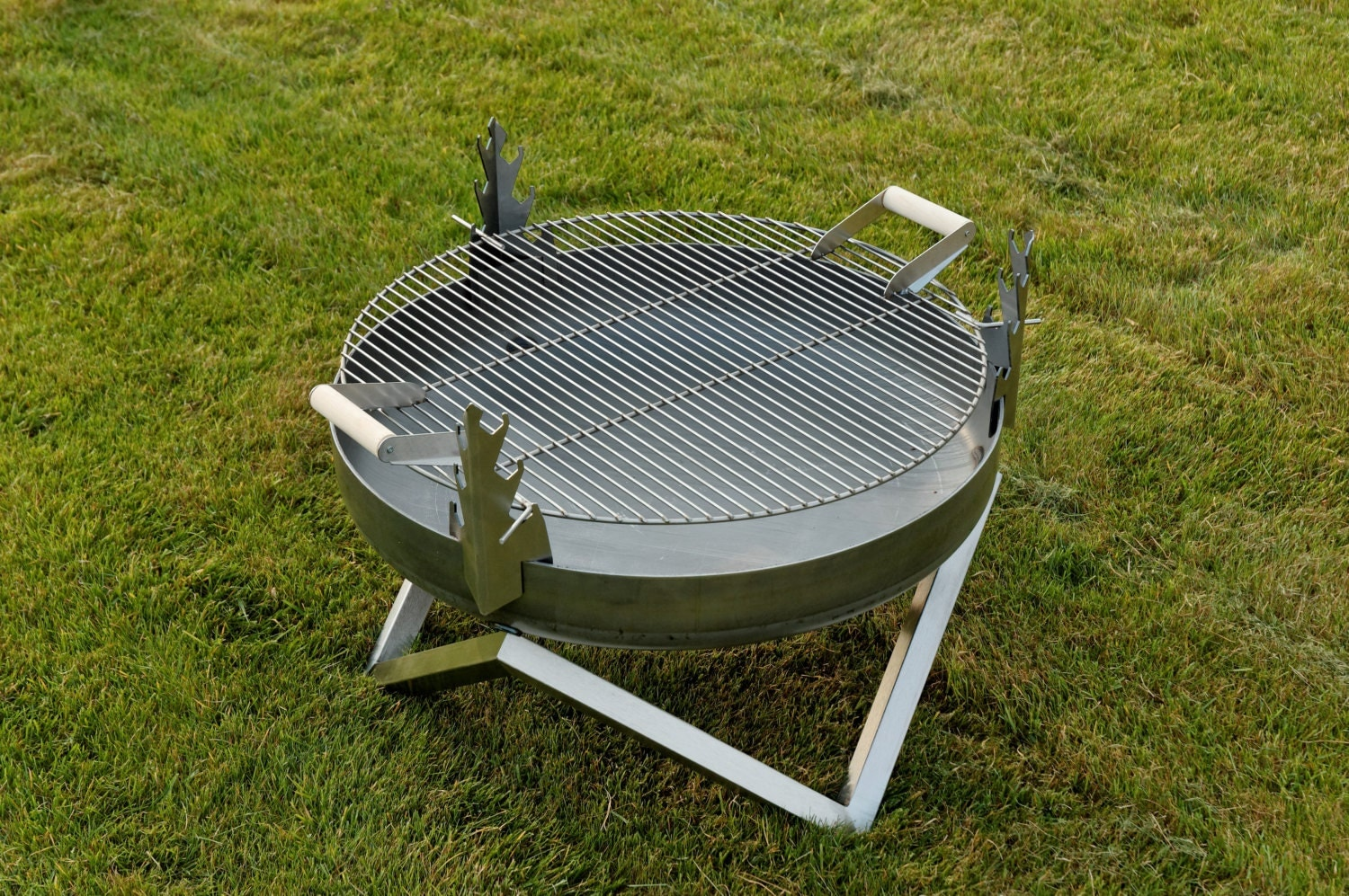 Steel Fire Pit Yanartas With A Stainless Steel Grill Grate